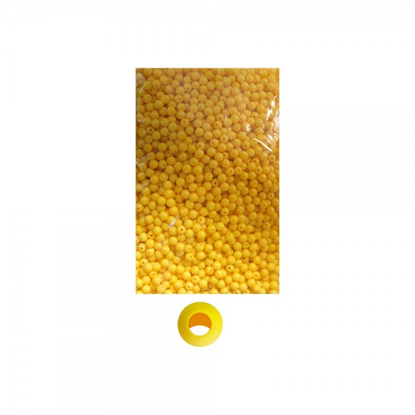 Boncuk Yuvarlak Sarı